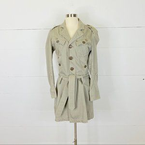 Diesel Embellished Military Trench Coat Size S